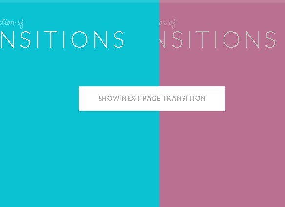 Awesome page transition effects with jquery and css3 for Css scrolling div
