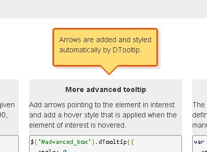 Awesome jQuery plugin For Customizable Tooltips - DTooltip