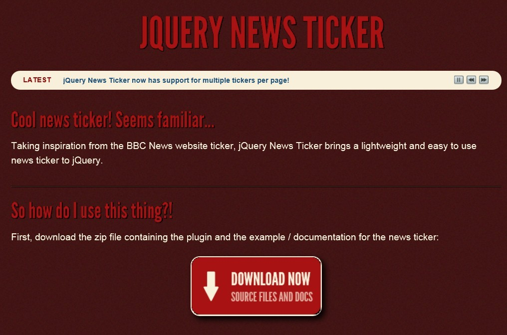 BBC News-Like Website Ticker Plugin with jQuery - News Ticker