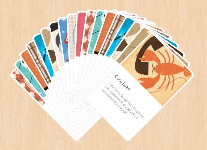 Baraja - Spreading items in a Card-like fashion