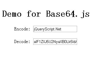 Base64 Decode and Encode Plugin - base64.js