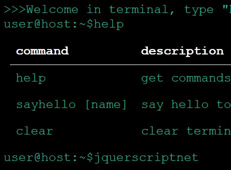 Basic Bash Terminal Plugin For jQuery - Web Terminal