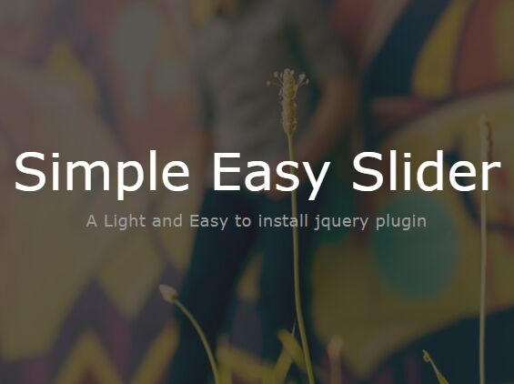 Basic Cross-fading Image Slider Plugin With jQuery - SimpleEasySlider