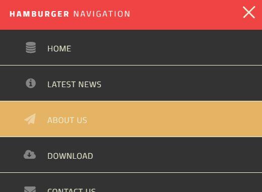 Basic Hamburger Navigation Menu With jQuery And CSS/CSS3
