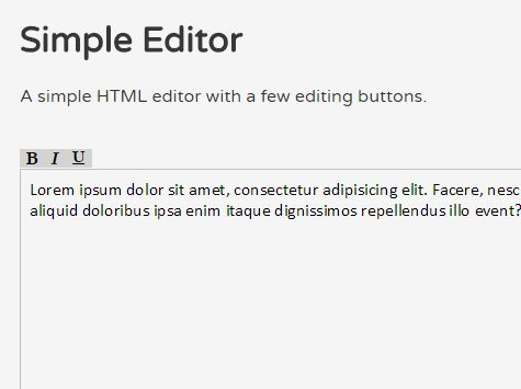Basic WYSIWYG Text Editor For jQuery - WYSIWYG.JS