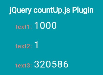 Basic jQuery Count Up Plugin - countUp.js