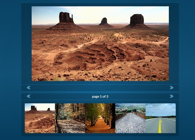 Basic jQuery Gallery with Paginated Thumbnail Navigation - ImageGallery.js