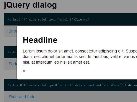 Basic jQuery Modal Dialog Plugin - Mirekbenes Modal