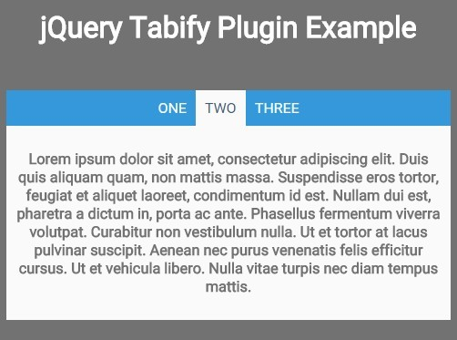 Basic jQuery Tabbed Interface Plugin - Tabify