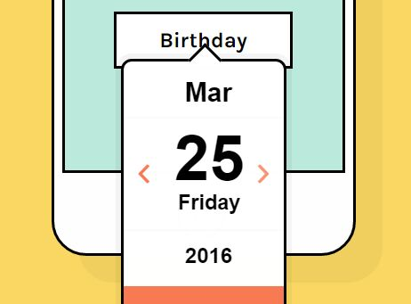 Beautiful Animated jQuery Date Picker Plugin - datedropper