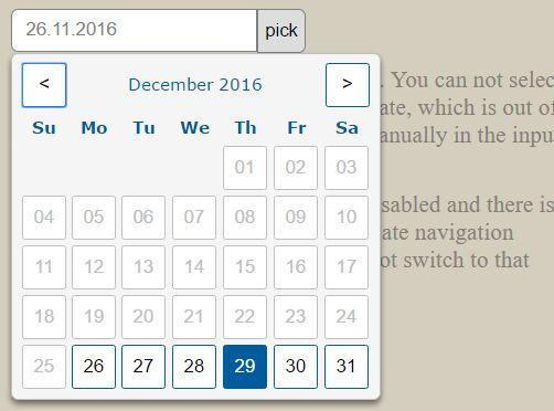 Beautiful Customizable Datepicker Plugin For jQuery - hw.datepicker