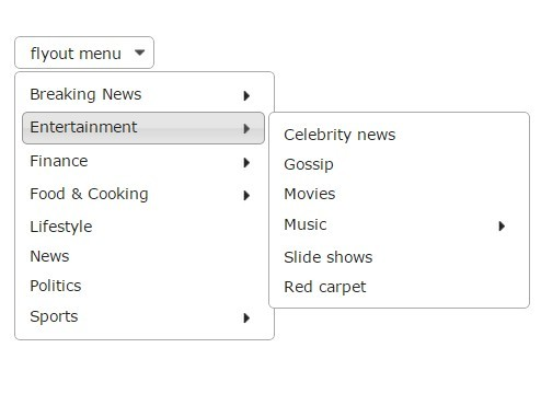Beautiful Dropdown/Drilldown Menus Using jQuery and jQuery UI
