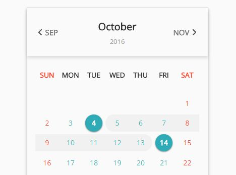 Beautiful Multifunctional Calendar Plugin For jQuery - PIGNOSE Calender