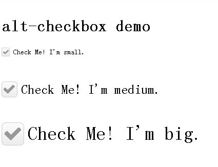 Beautiful and Scalable Checkbox Plugin with jQuery - alt-checkbox