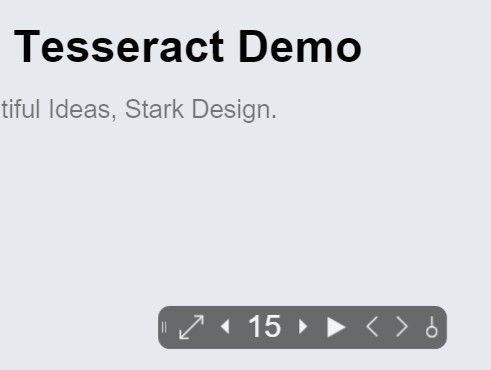 Beautiful Web-based Presentation Framework For jQuery - Tesseract