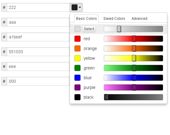 Beautiful jQuery Color Picker For Bootstrap - Pick-a-Color