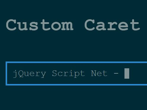 Terminal-style Blinking Cursor Plugin With jQuery - Custom Caret