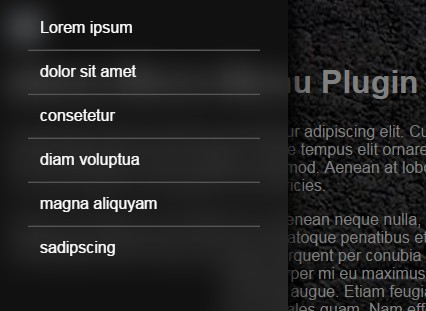 Blurry Off-canvas Menu with jQuery and Canvas - Blurry Menu