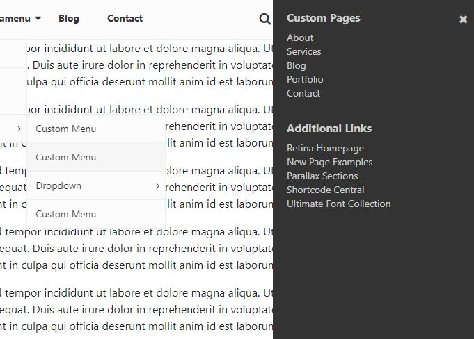 Bootstrap 4 Compatible Multi Purpose Menu - jQuery sina-nav