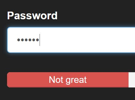 Bootstrap Password Strength Meter Plugin With jQuery And Zxcvbn