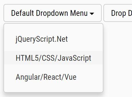 Bootstrap Style Dropdown Menu Plugin - jQuery Dropdown.js
