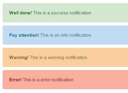Bootstrap-style Notification Bar Plugin With jQuery - simpleNotificator