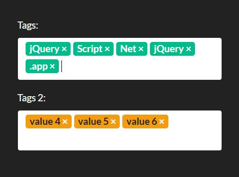 jQuery Plugin For Custom Tags Input and Select Box