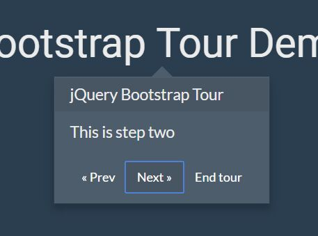 Interactive Visual Guide Plugin For Bootstrap - jQuery Tour