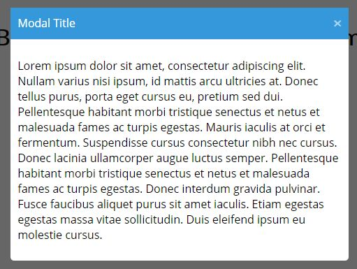 Bootstrap-style Modal Plugin For jQuery - modal.js