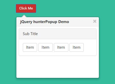 Jquery plugin for bootstrap styled confirmation popover for Bootstrap popover custom template