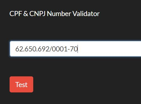 Brazilian CPF And CNPJ Number Validator - cpfcnpj.js
