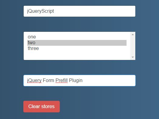 Browser Storage Based Form Caching Plugin With jQuery - Form Prefill