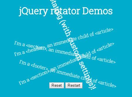 Configurable CSS Rotate Animation Plugin - jQuery rotator