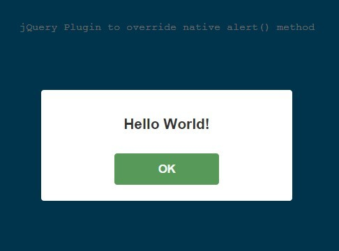 CSS3 Animated Custom Alert Box Plugin For jQuery - WOW Alert