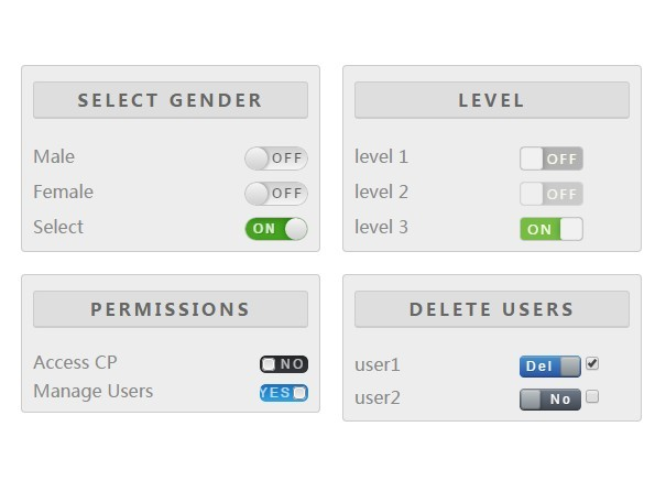 CSS3 Animated jQuery Toggle Switch Plugin - rcSwitcher