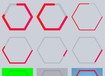 Canvas Based Hexagon Progress Bar Plugin with jQuery - Hexagon Progress