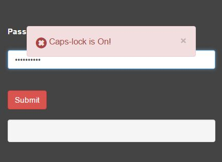 Caps Lock Notification Plugin For jQuery - Caps-lock