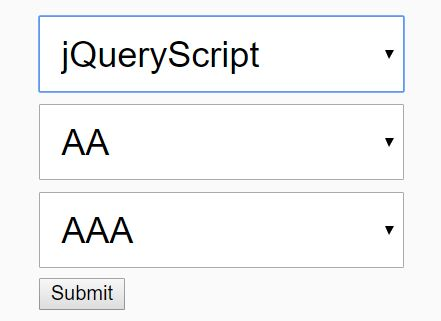 Cascading (Dependent) Dropdown List Plugin - jQuery Chained Selects