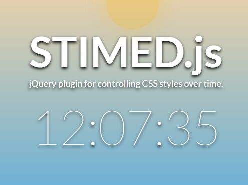 jQuery Plugin To Change CSS Styles On Time Update - STIMED.js