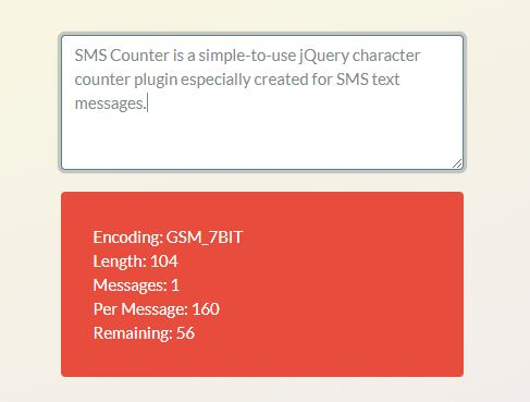 Character Counter For SMS Text Message - SMS Counter