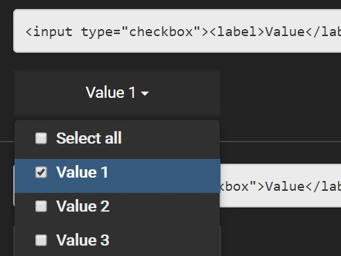 Convert Checkbox And Radio Inputs Into Dropdown Lists - jQuery input-to-dropdown