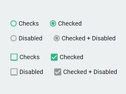 Custom Checkbox & Radio Inputs - jQuery Checks