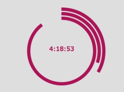 Circular Band Clock with jQuery and Canvas - bandClock