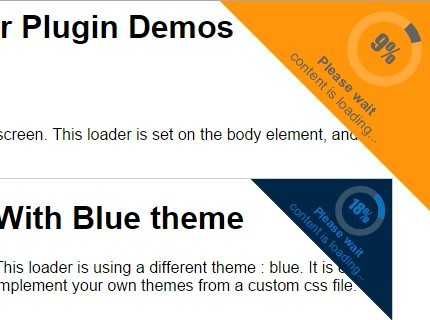 Circular Corner Loader with jQuery and CSS3 - jmyloader
