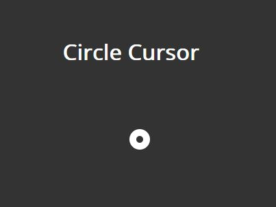 Circular Cursor Image With jQuery And CSS3 - Circle Cursor