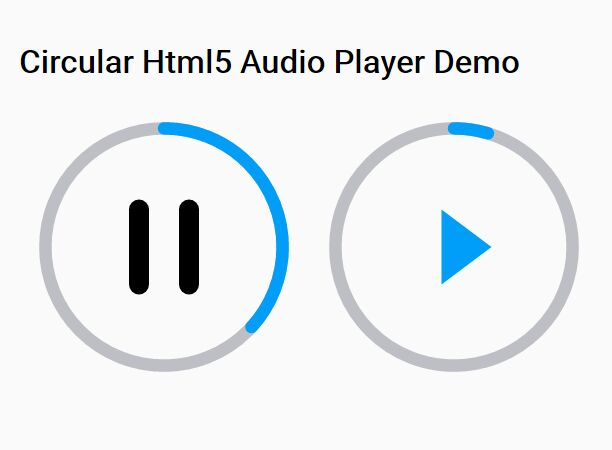 Create a circular html5 audio player with jquery player for Div in html5