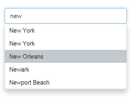 City Autocomplete Plugin with jQuery and Google Places API