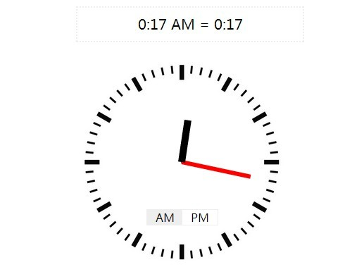 Classic Clock Style Time Picker Plugin For jQuery