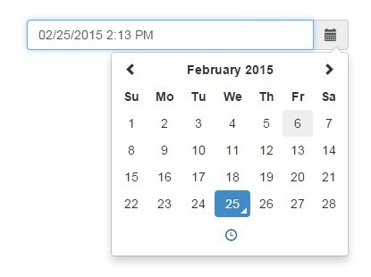 Clean Date Time Picker With Jquery And Bootstrap 3 Free Jquery