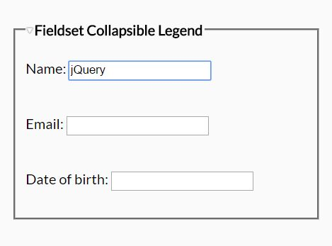 Create Collapsible Form Fieldsets Using jQuery - collapsible-fieldset.js